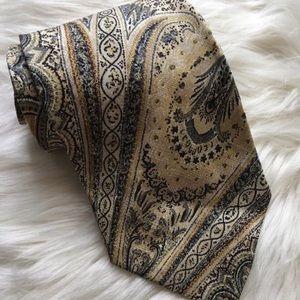 WINGS Vintage Handmade Paisley Silk Tie